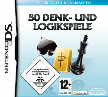 50 Denk- und Logikspiele (Nintendo DS) Lösung, Saves, Review, Demo, Trailer, Sample, Screenshots, Patch, News, Preview, Interview, etc.
