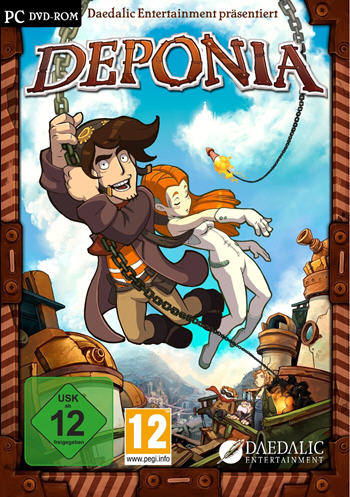 Deponia 1 Lösung, Saves, Review, Demo, Trailer, Sample, Screenshots, Patch, News, Preview, Interview, etc.