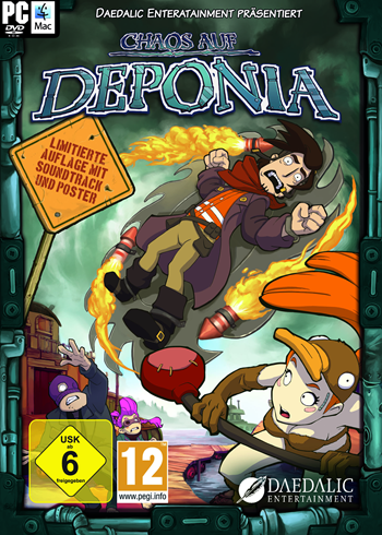 Deponia 2 - Chaos auf Deponia Lösung, Saves, Review, Demo, Trailer, Sample, Screenshots, Patch, News, Preview, Interview, etc.