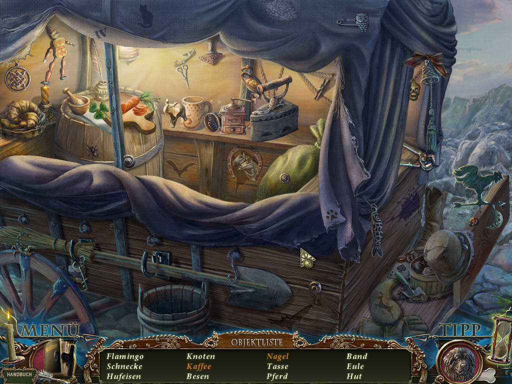 Dark Tales 4 - Der goldene Käfer von Edgar Allan Poe Screenshots eCards Lösung Review Saves Forum News Demo