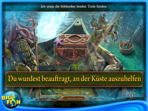 Dark Tales 4 - Der goldene Käfer von Edgar Allan Poe (iPhone & iPad) Screenshots eCards Lösung Review Saves Forum News Demo