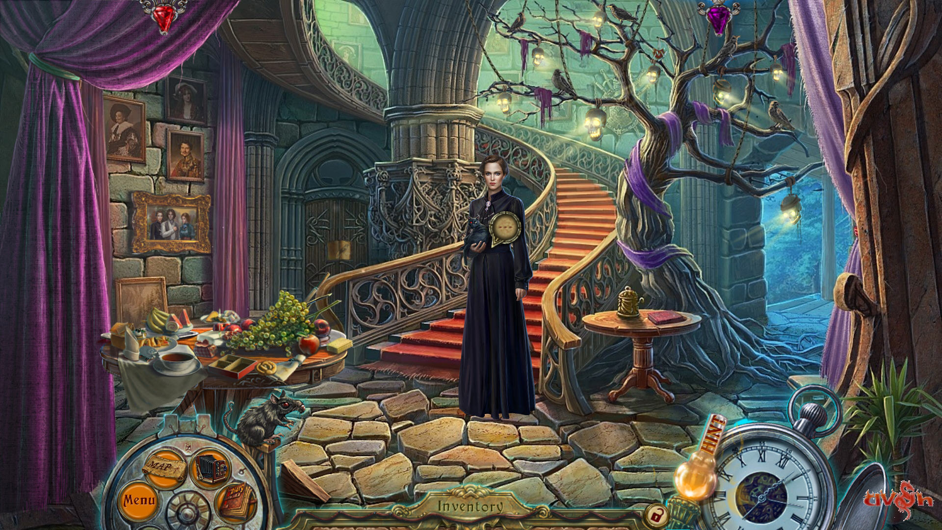 Dark Tales 6 - Edgar Allen Poe's The Fall of the House of Usher Screenshots eCards Lösung Review Saves Forum News Demo
