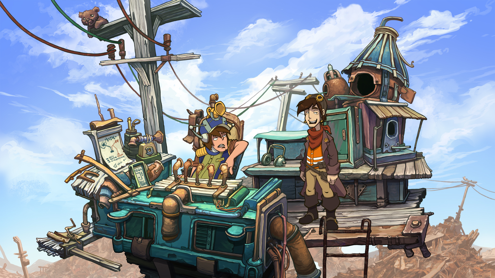 Deponia Screenshots eCards Lösung Review Saves Forum News Demo